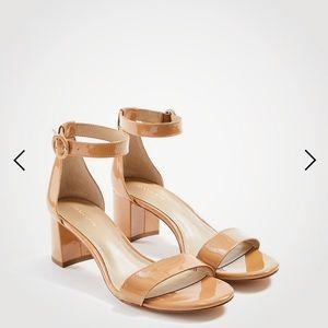 NIB Ann Taylor Patent Block Heel Sandals